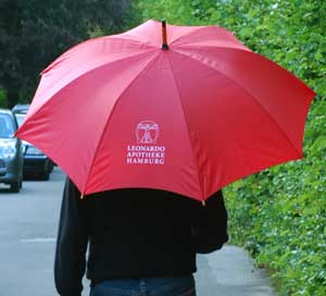 Our service for your comfort: in case of Hamburg rainy weather we have an umbrella for you.